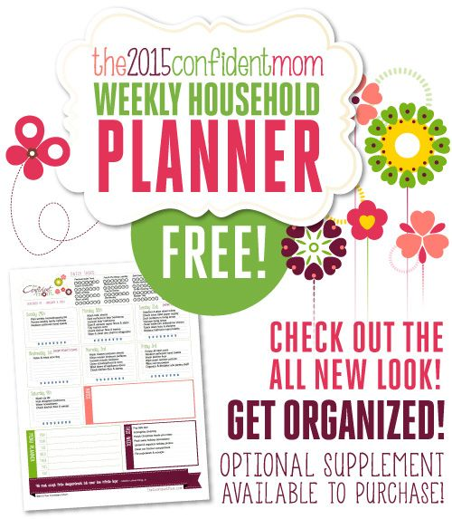 free 2018 weekly household planner weekly planner planners and