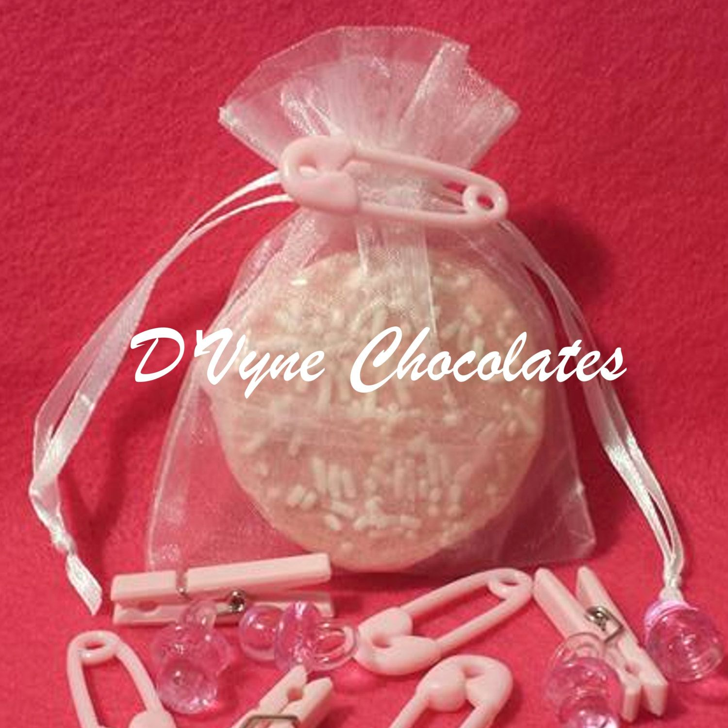 Chocolate covered sandwhich cream cookie/Oreo- Organza bag party ...