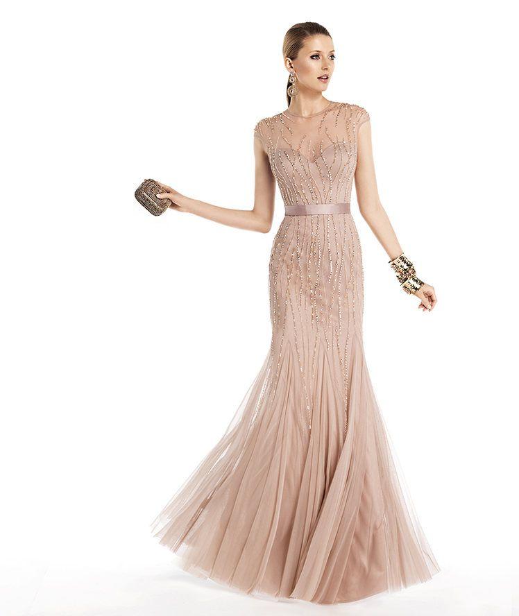 vestido de noche color carne | vestidos de novia | vestidos