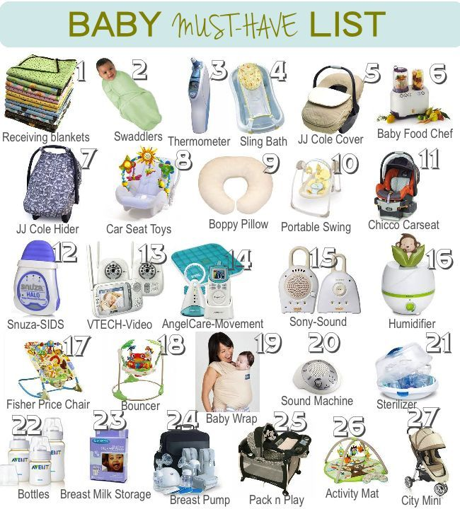 A List Of Baby Must Haves! Great Guide On What To Get Before The