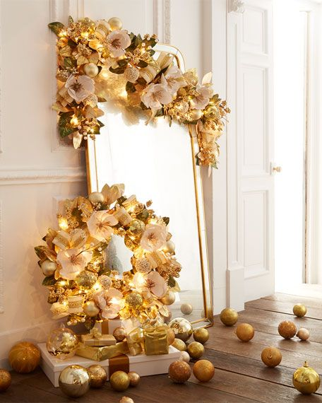 winter white gold pre lit 6 christmas garland
