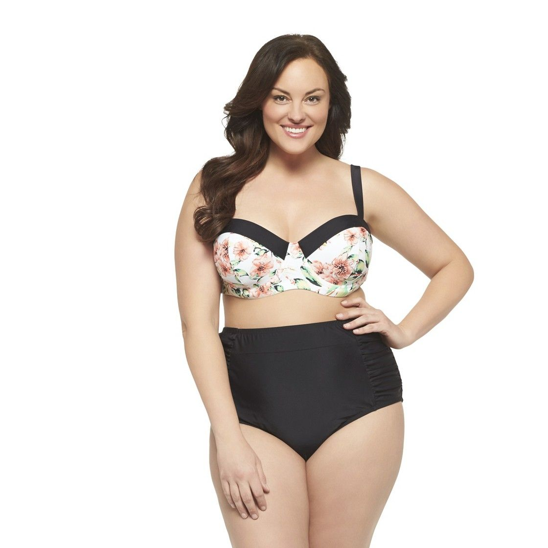 2ae68f23cb6 Women s Plus Size Bikini Swim Top Pink Black-Ava