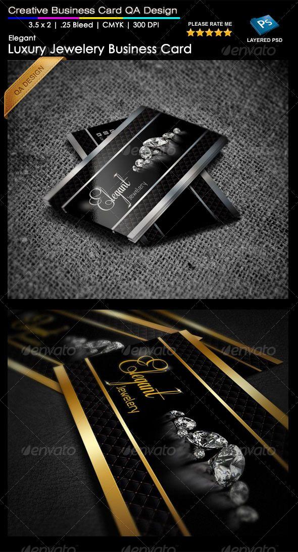 Elegant Jewelry Business Card QA Design Beautiful Black Business - Jewelry business card templates