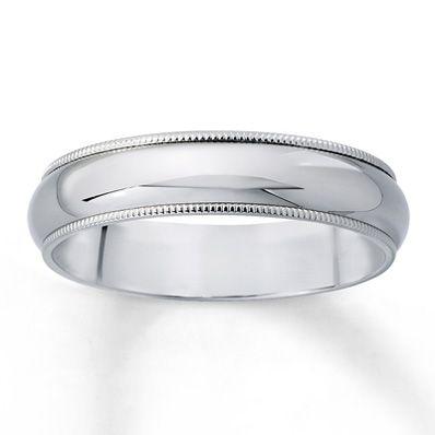 Men S Wedding Band Milgrain Finish 14k White Gold Mens Wedding Rings White Gold Mens Wedding Bands Platinum White Gold Wedding Ring Set