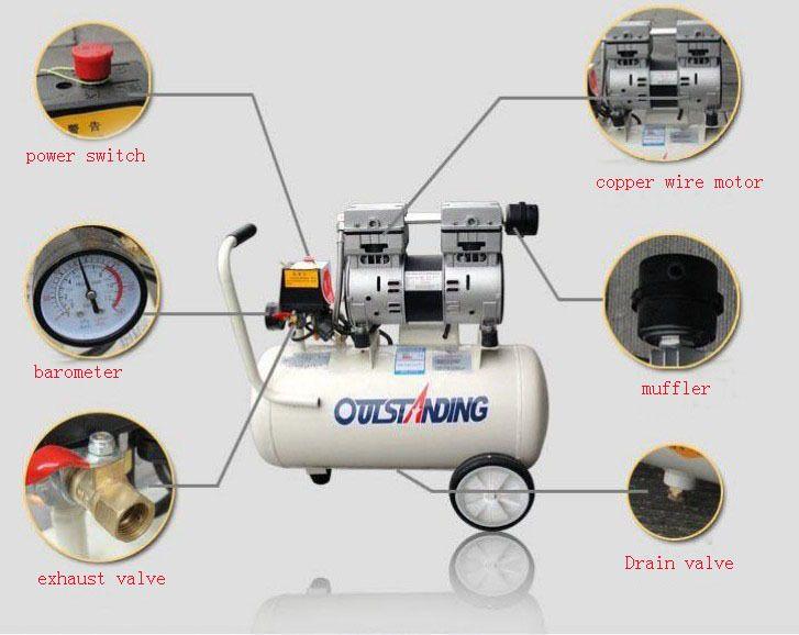 Noisy Less Light Tool Portable Air Compressor 0 7mpa Pressure 8l Air Pool Cylinder Economic Speciality Of Piston Filling Portable Air Compressor Air Compressor