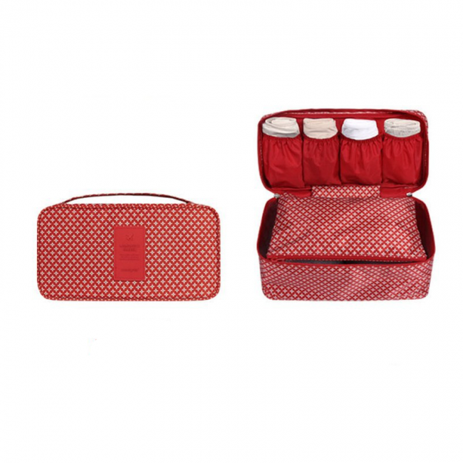 Multifunction Underwear Organiser - Red Classic - KORENKAB #korenkab #underwearorganiser #travel #travelbags