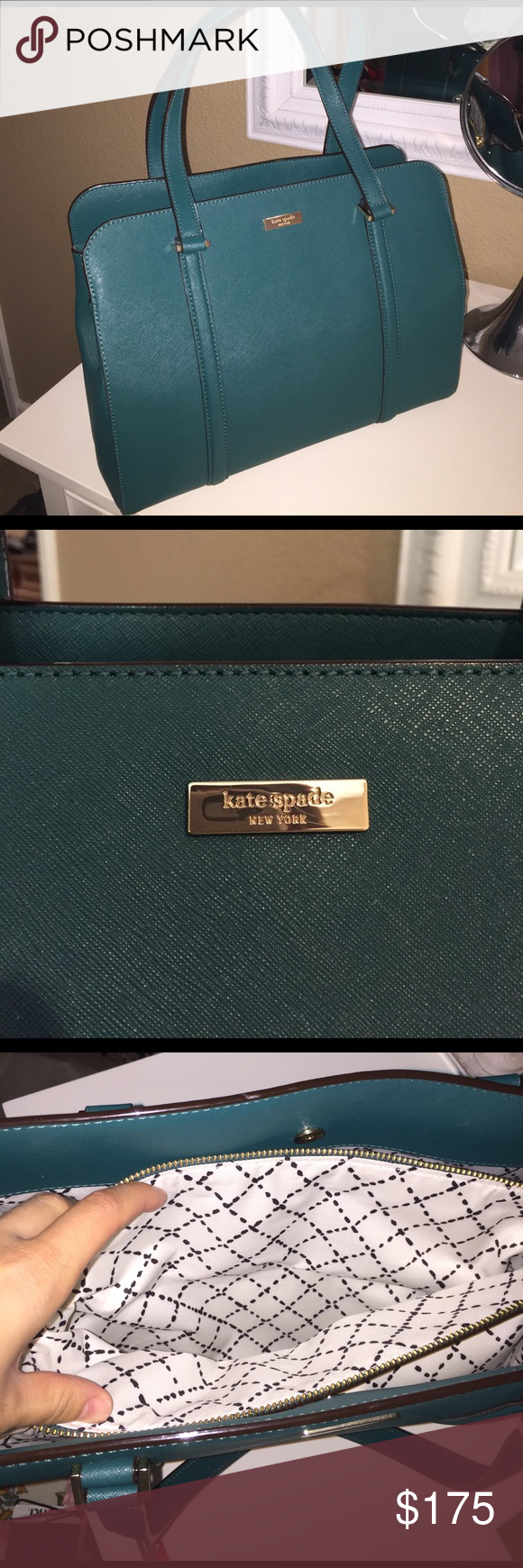 Beautiful, BARELY USED, Kate Spade purse! Medium size Kate Spade purse. Used 2-3 times! Lots of pockets inside! Amazing condition! kate spade Bags Totes
