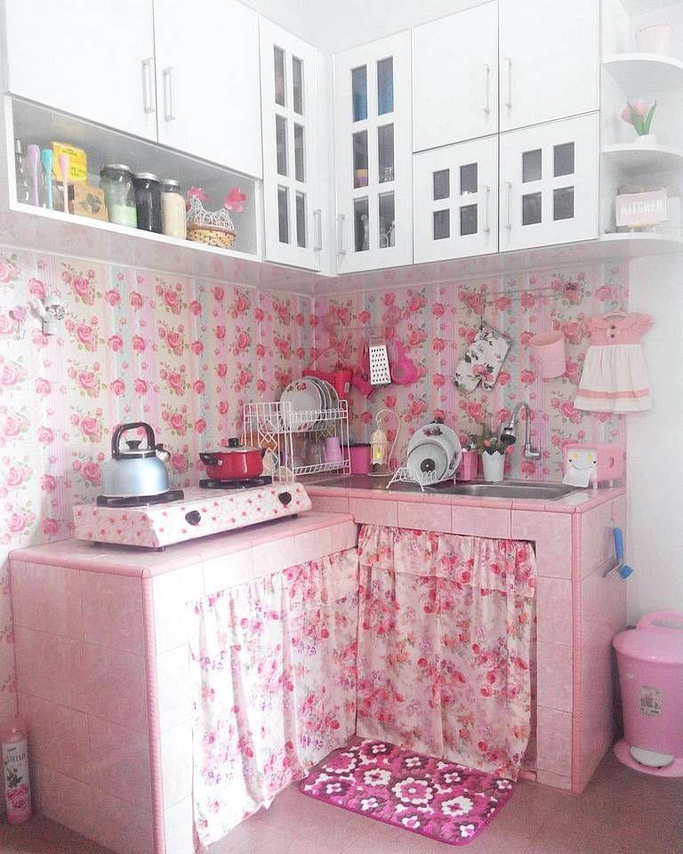 Desain Dapur Shabby Chic Ukuran Kecil Minimalis Kitchen Set In