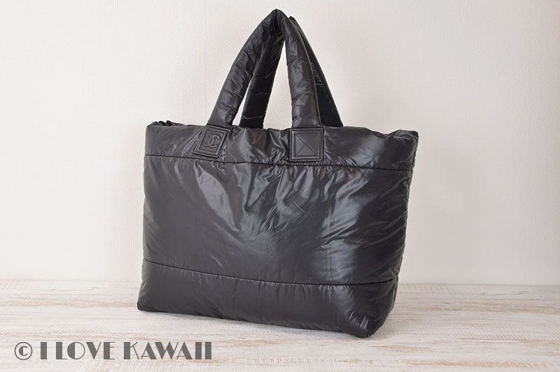 284b6b26e826 CHANEL Black Bordeaux / Nylon Leather Coco Cocoon Large Tote Bag ...