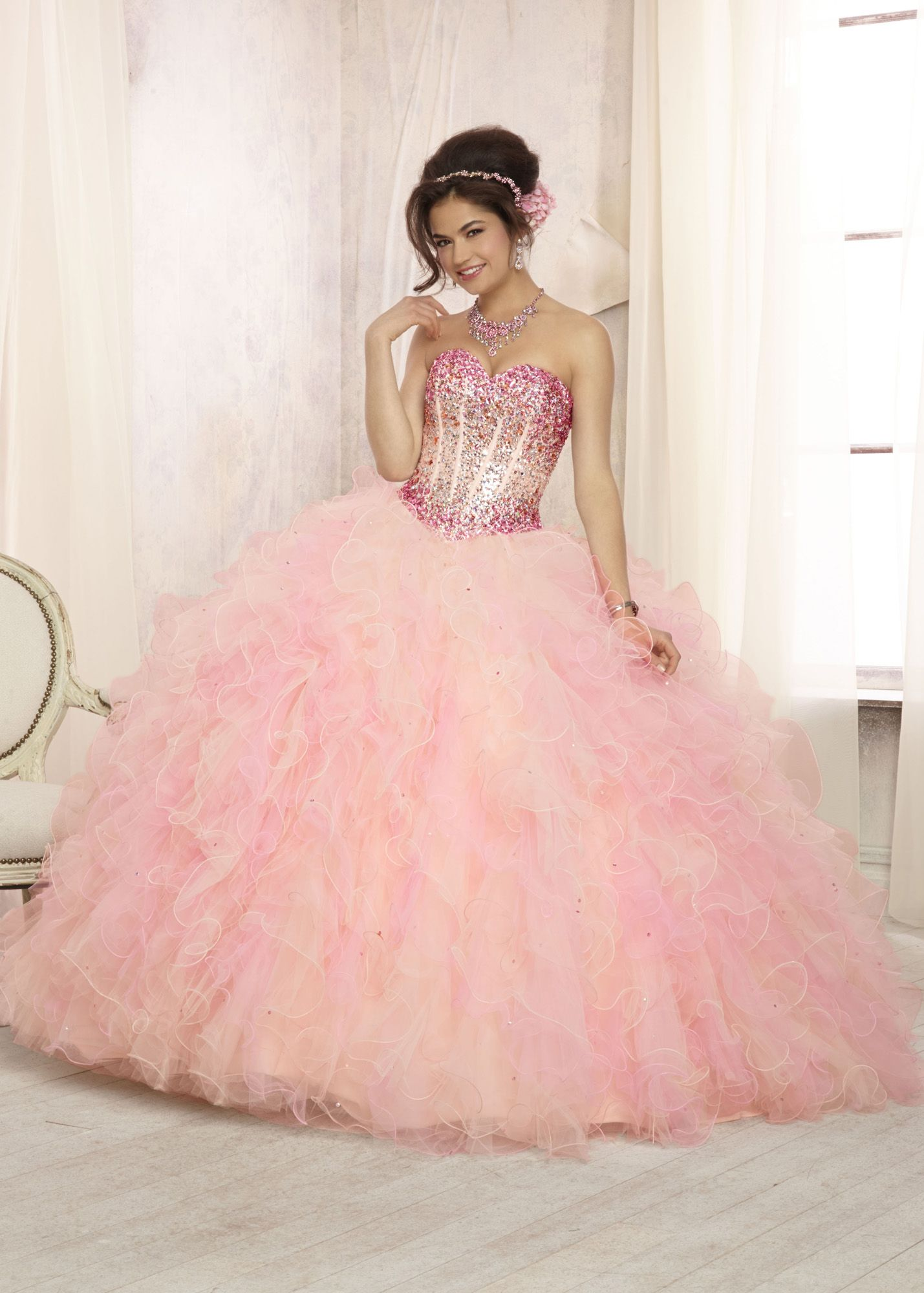 Vizcaya 88090 - Strapless Ombre Quinceanera Prom Dresses Online ...