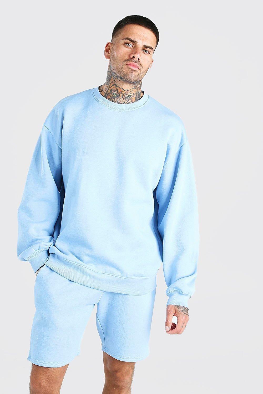 Men S Basic Oversized Crew Neck Sweatshirt Boohoo Crewneck Sweatshirt Outfit Sweatshirt Outfit Overalls Fashion [ 1500 x 1000 Pixel ]