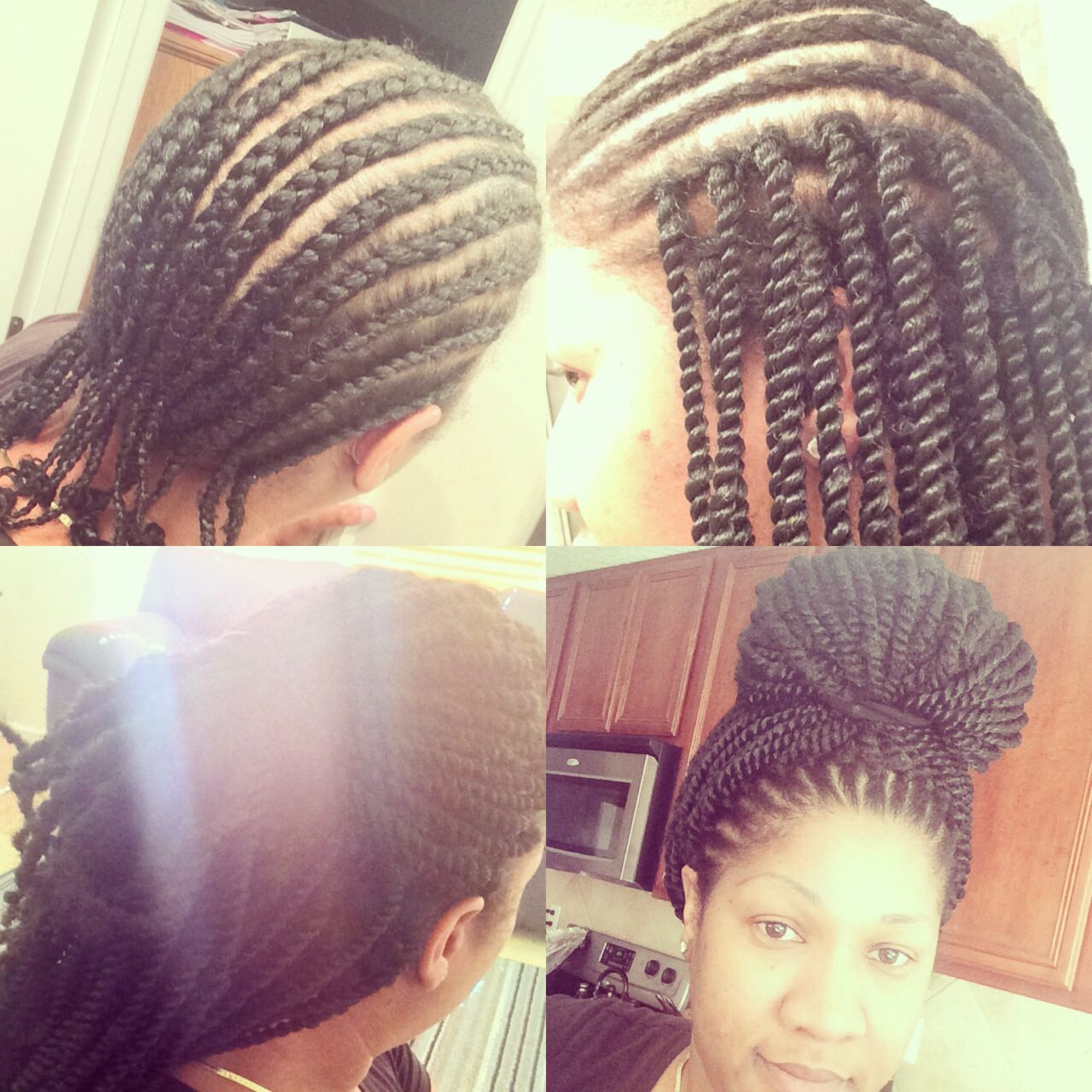 Tutorial for crochet twists using marley hair natural haircrochet