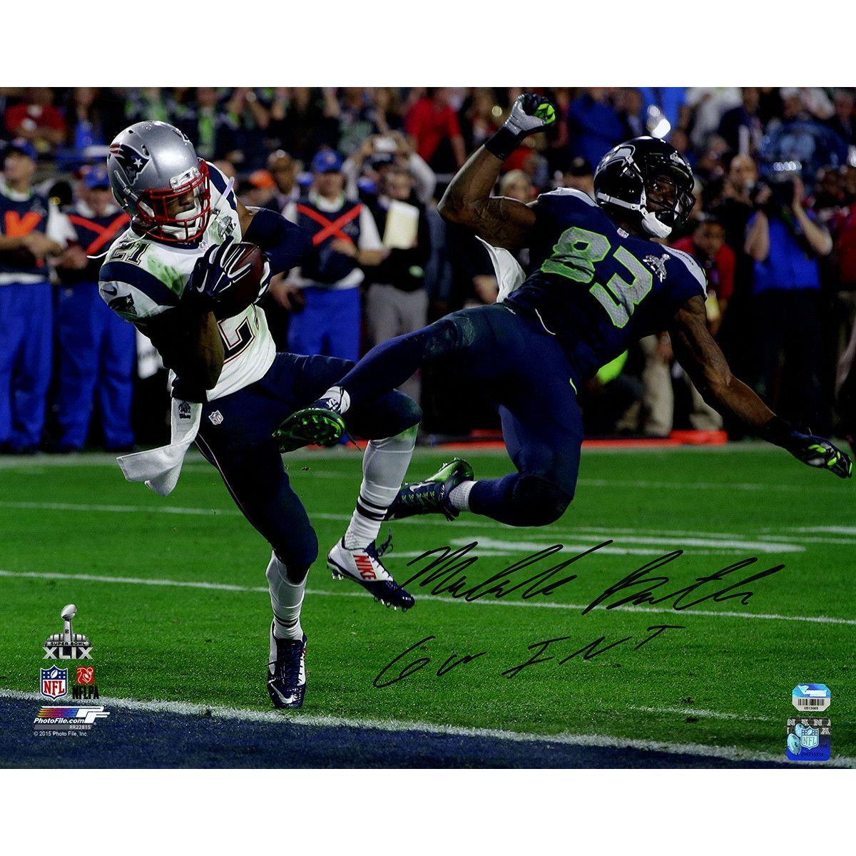 Malcolm Butler Signed Sb 49 Interception Vs Seahawks 16x20 Photo W Gw Int Insc Fanatics Holo Only Patriots Superbowl Super Bowl Super Bowl Xlix