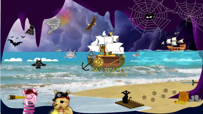 These Best Friends Are Playing Pirates Pnf Is A Buzz With Talk Of Pirates And Treasure What Could It Mean Join The Game To Find Out Paste Animal Games Pets