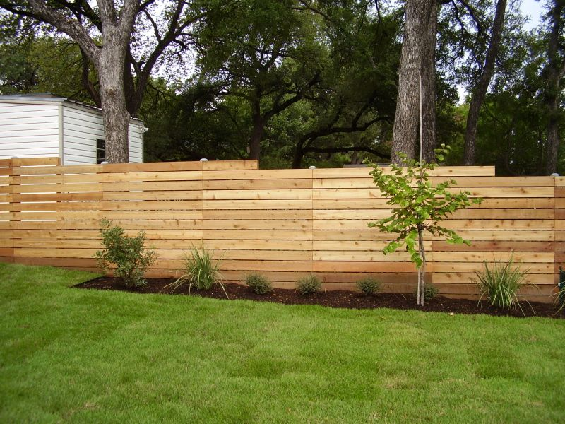 Bring a modern feel to your fence with a horizontal slat