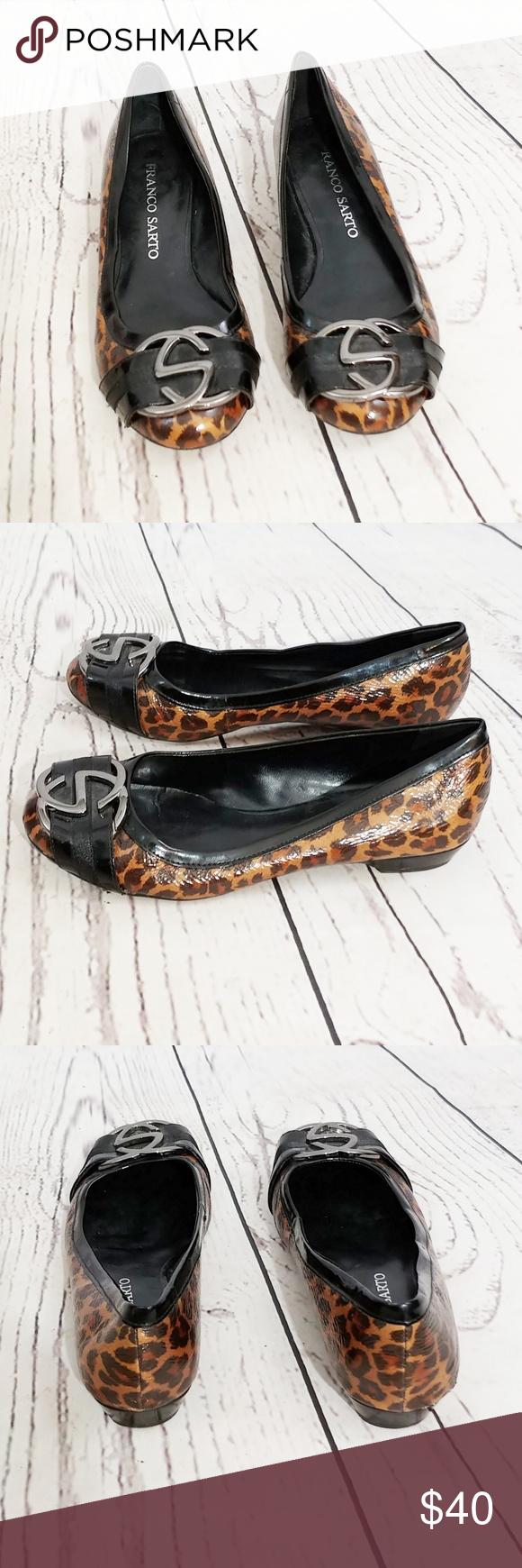 64f8185d4d5c Franco Sarto Cajun leopard print shoes BRAND: Franco Sarto SIZE: 5.5 FLAW:  two