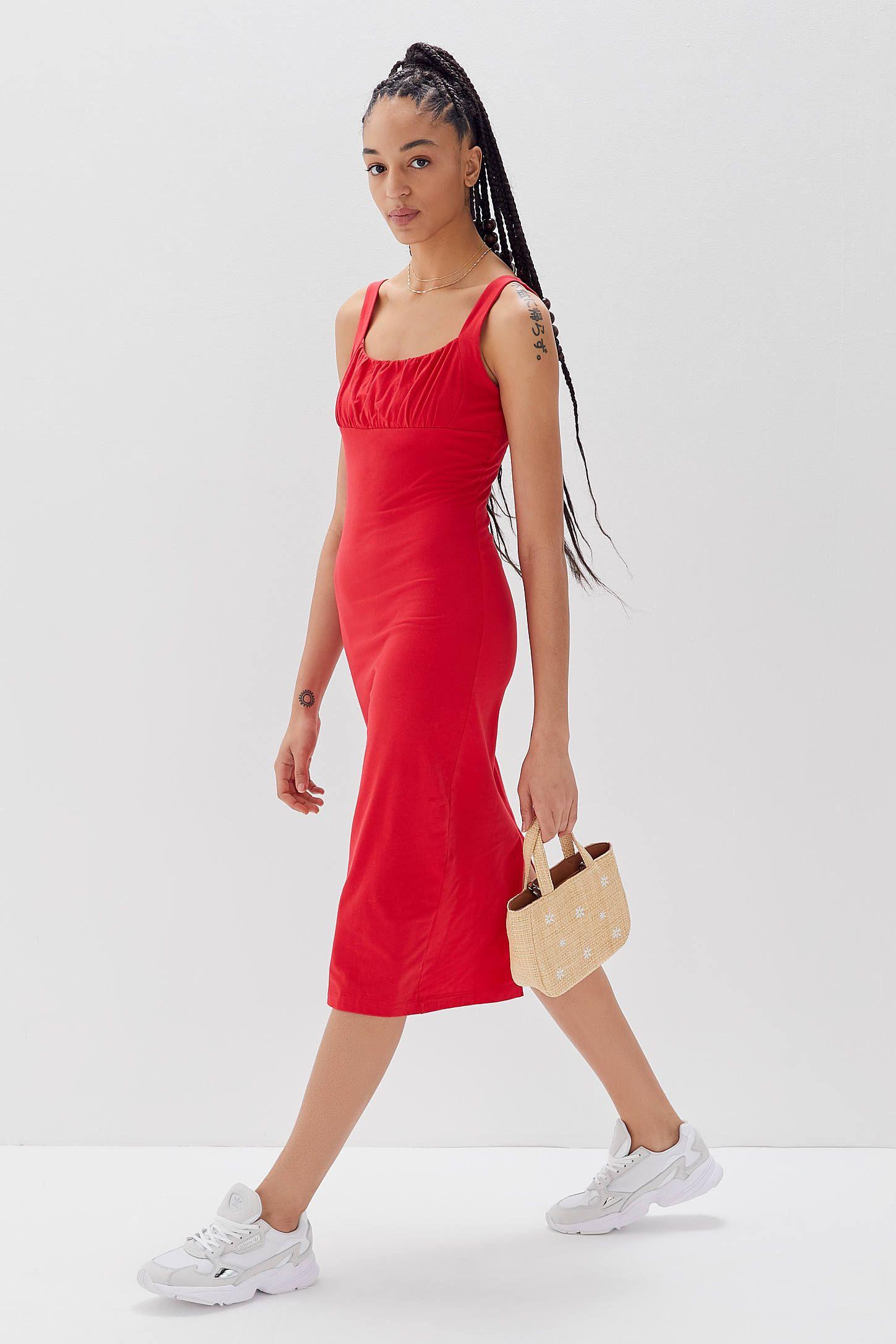 2c082c85f40dc UO Geneva Ruched Empire Waist Midi Dress in 2019 | SB Inspiration ...