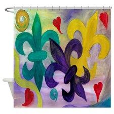 Mardi Gras Fleur De Lis Shower Curtain By Mare Mardi Gras Fleur