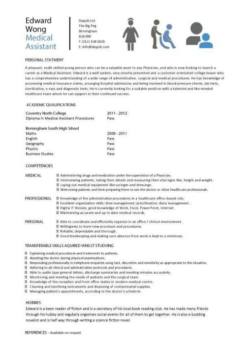Sample Picture Of A Resume Endearing Medical  Resume Templates  Pinterest  Sample Resume Entry Level .