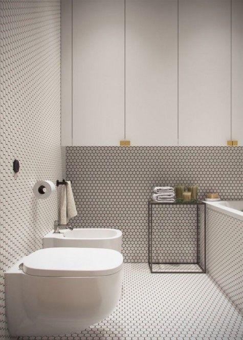 26 Trendy Penny Tile Ideas For, Penny Tile Bathroom Ideas