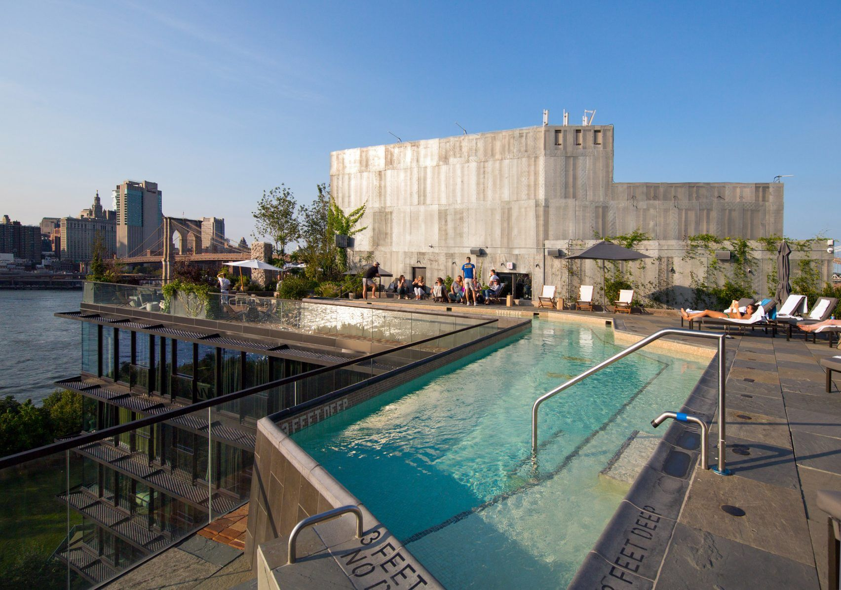 The 1 Hotel Brooklyn Bridge Designed By Marvel Architects Has Been Nominated In Seven Categories At The Ahead Pier House Brooklyn Bridge Brooklyn Bridge Park