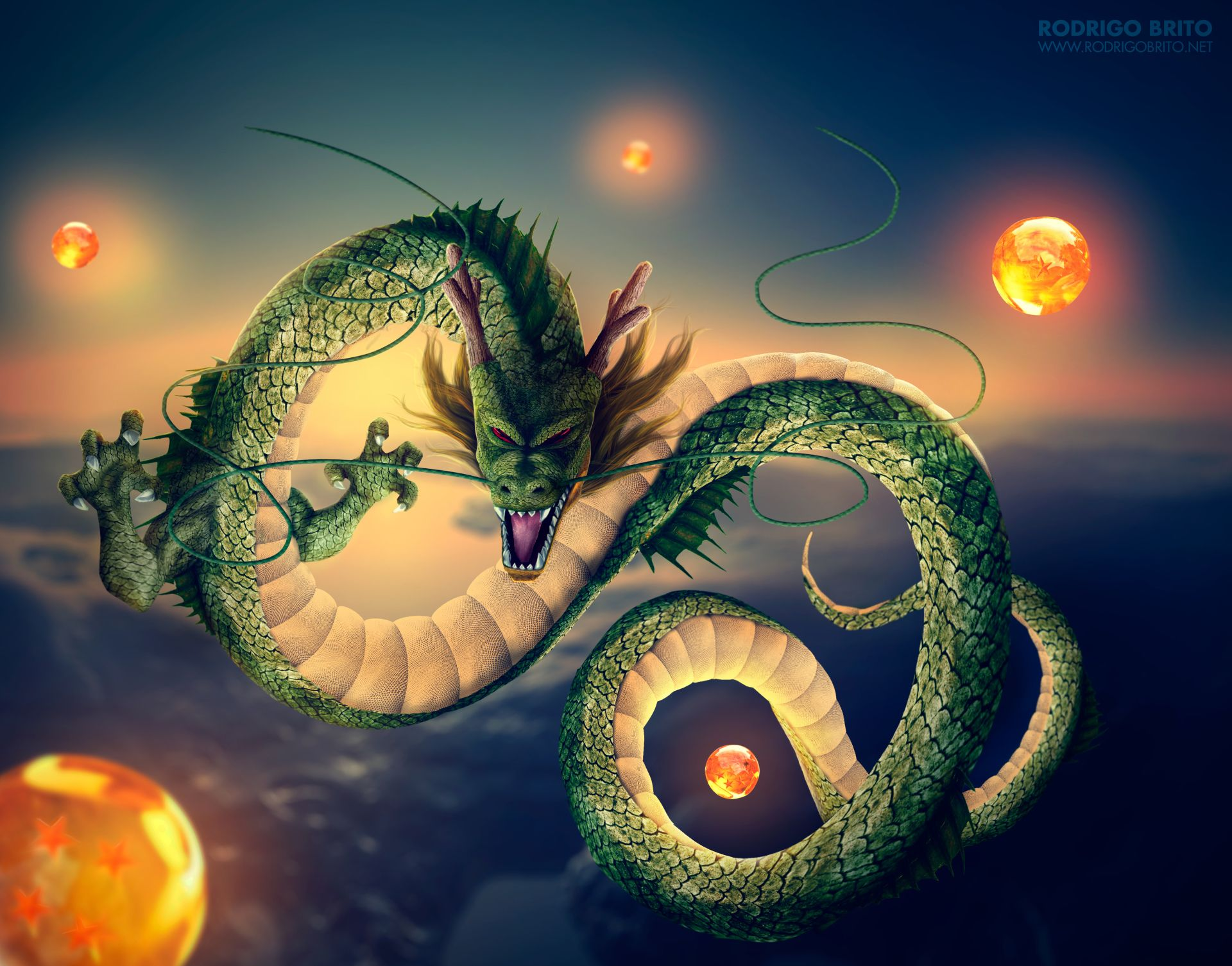 Anime dragon ball z shenron dragon ball wallpaper - 3d wallpaper of dragon ball z ...