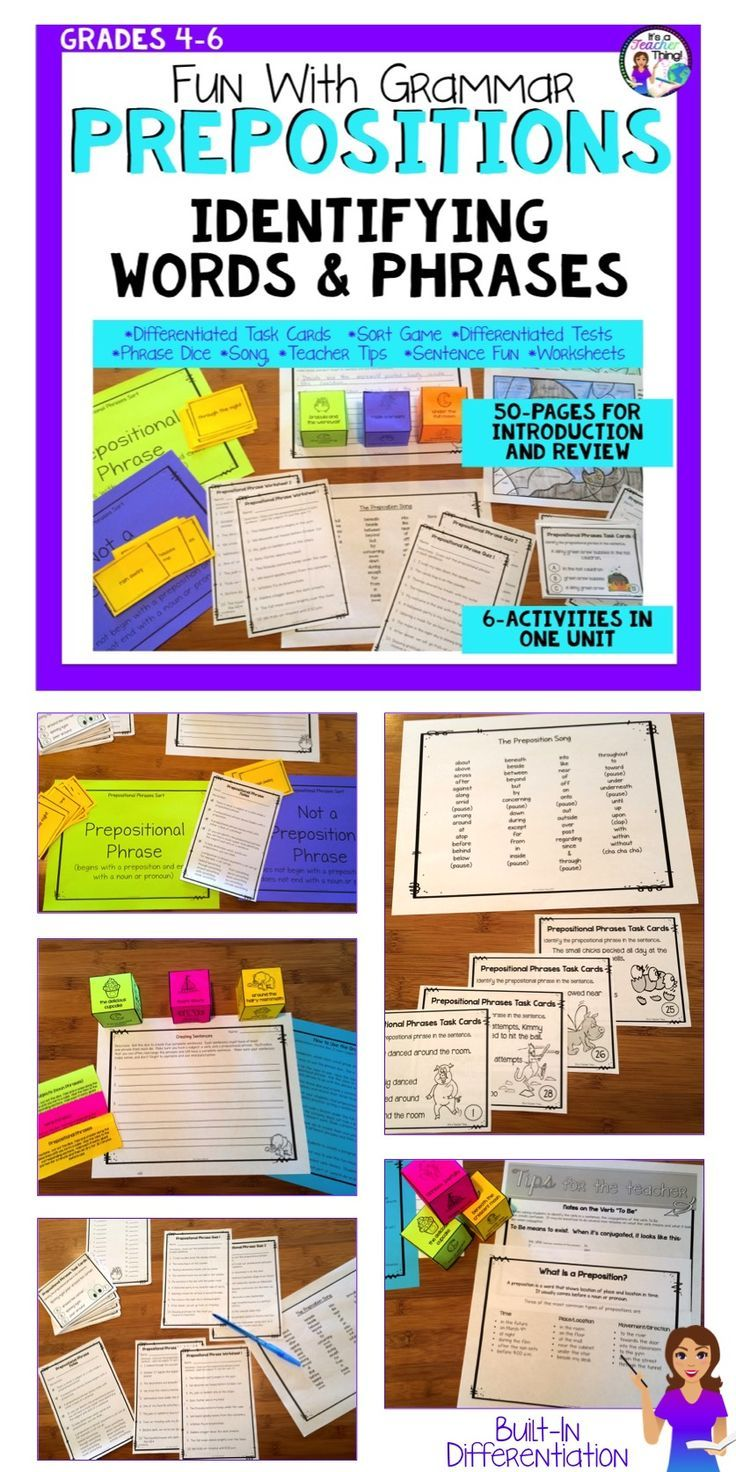 Prepositions Worksheets and Activities Prepositional