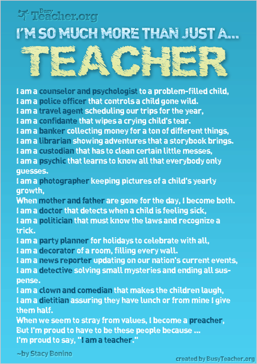 I M So Much More Than Just A Teacher Poster Teaching Quotes Teacher Quotes Teaching Inspiration