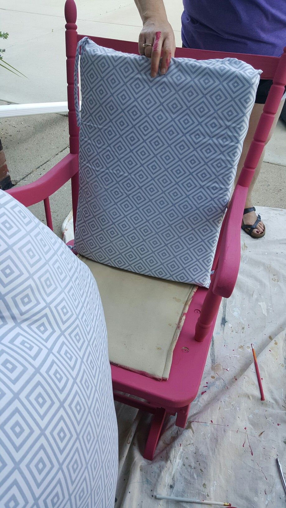 Swell Bought This Rocking Chair From The Thrift Store Used Chalk Gmtry Best Dining Table And Chair Ideas Images Gmtryco