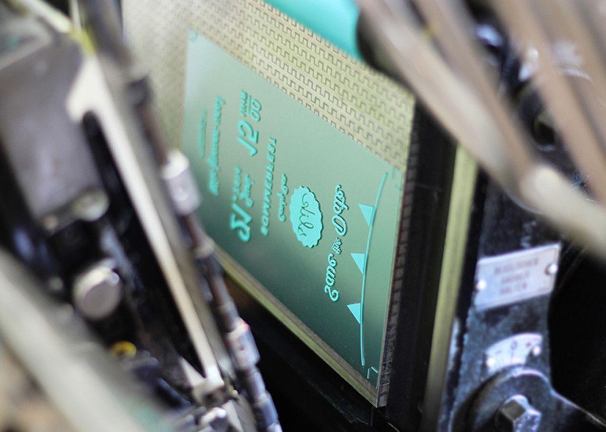Slik Letterpress-Box