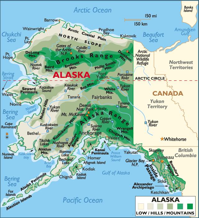 Where Is Alaska On The Map Bing Images Alaska Pinterest - State of alaska map