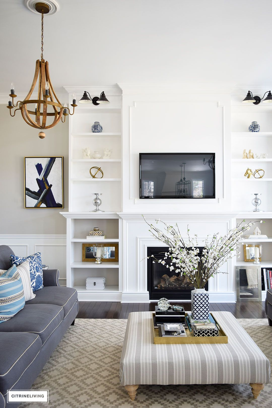 Spring in full swing home tour beautiful fireplaces and