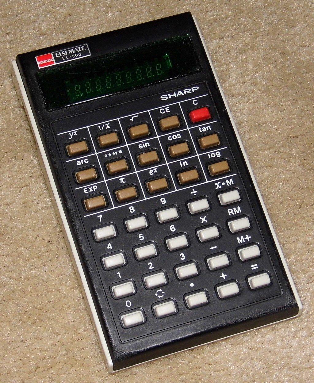 Vintage Sharp Electronic Pocket Elsi Mate Calculator Model El