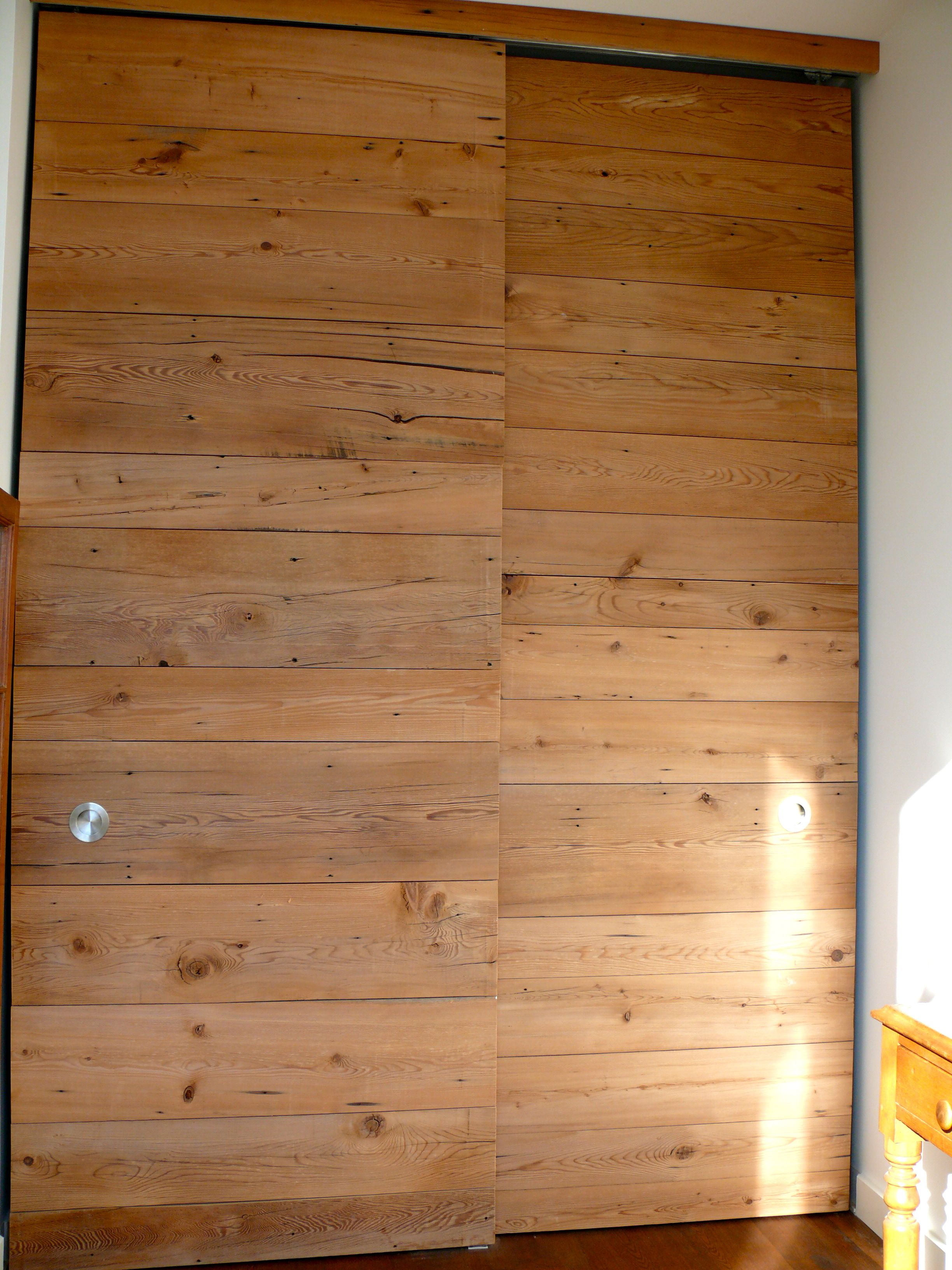 Image Detail For  Re Milled Pine As Floor To Ceiling Sliding Closet