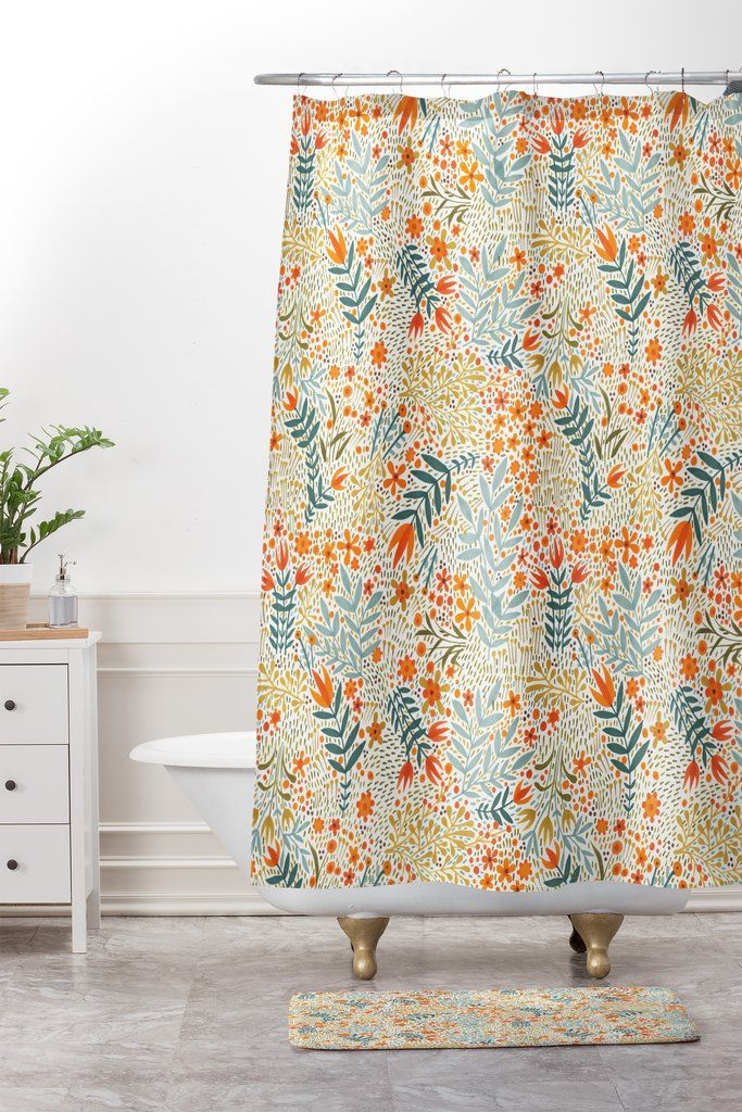 Cori Dantini Garden Of Delights Shower Curtain And Mat Deny Designs Shower Curtain Shower Curtains And Accessories Printed Shower Curtain
