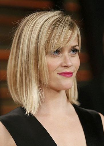 Reese Witherspoon Straight Bob With Bangs Hairstyle Pinterest