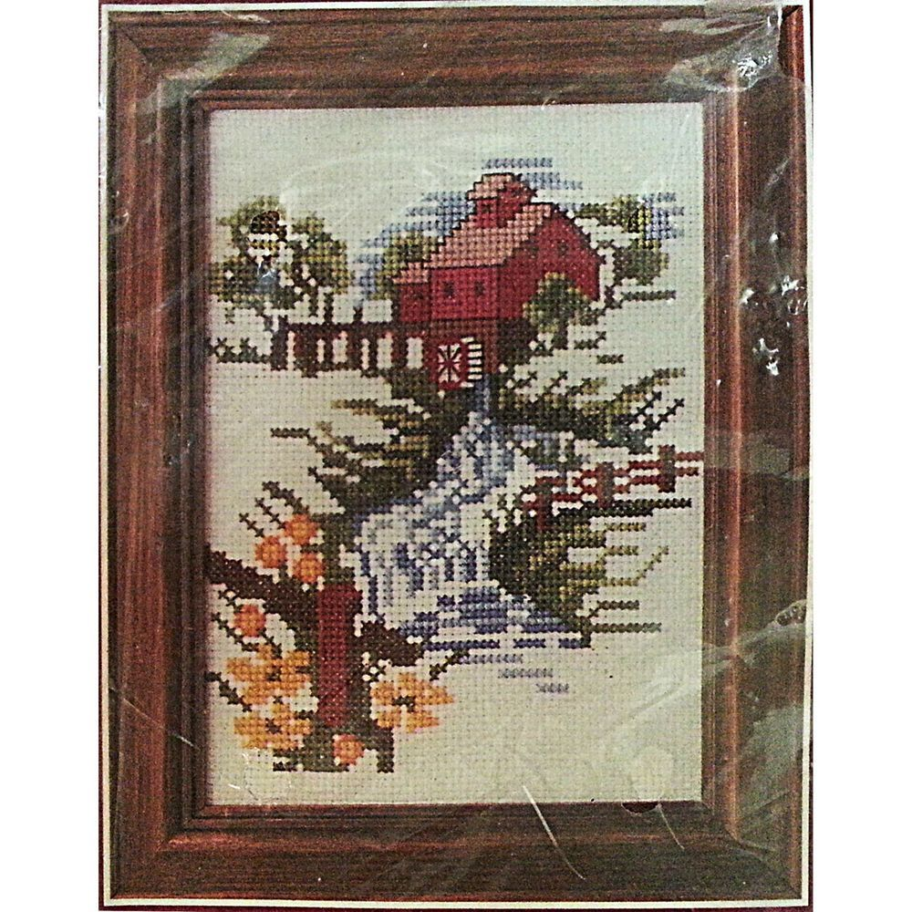 "Watermill Counted Cross Stitch Kit 5"" x 7"" Landscape River Country Bucilla c827 #Bucilla #CountedCrossStitch"