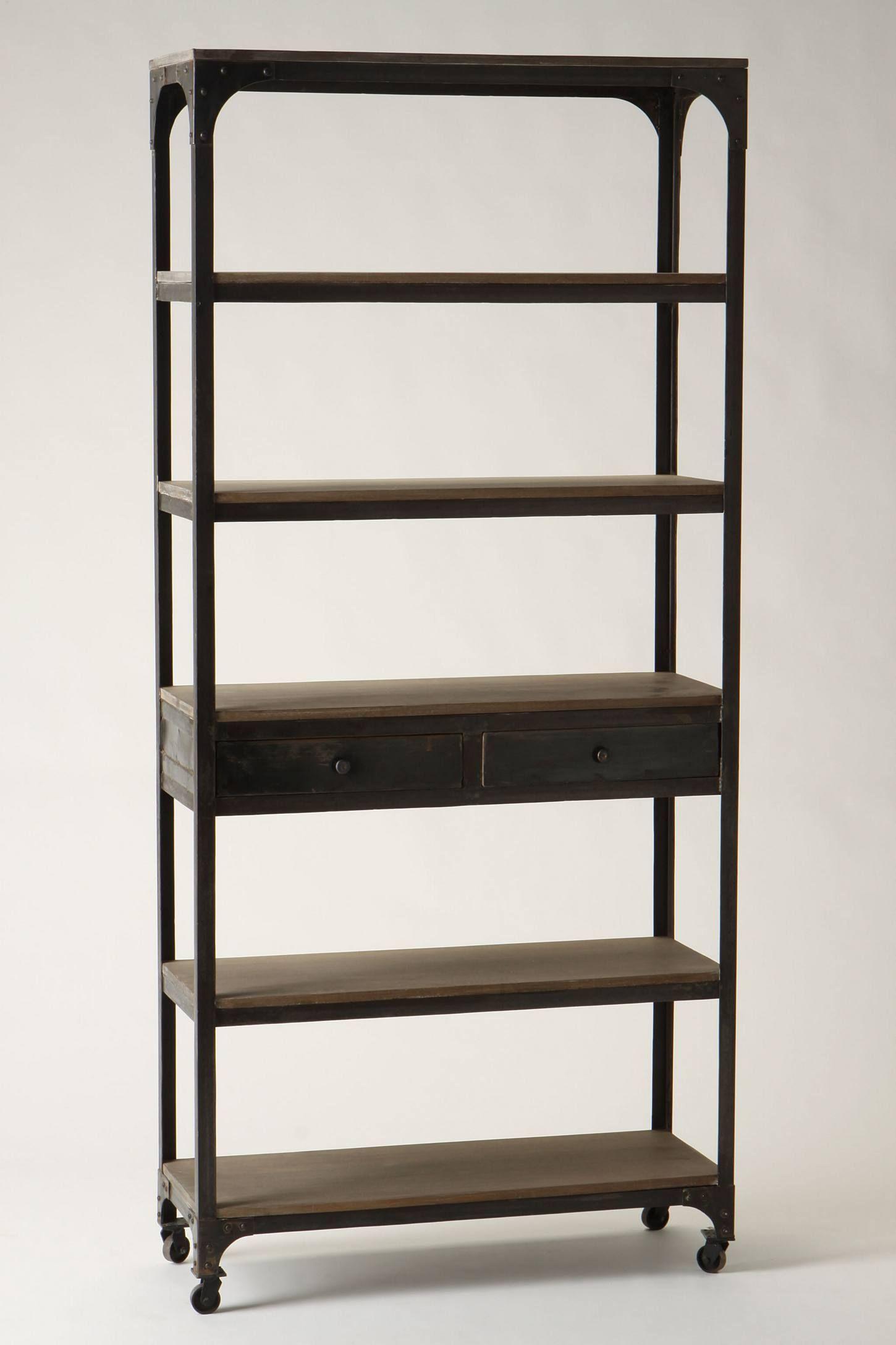 Decker Five Shelf Bookshelf Anthropologie Pinterest