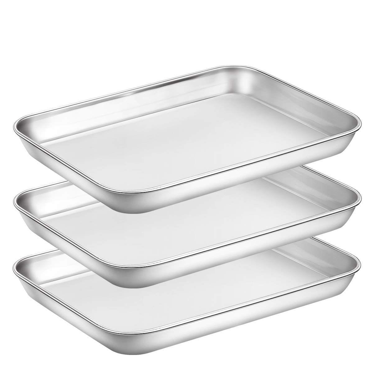 Baking sheet pan for toaster oven stainless steel baking