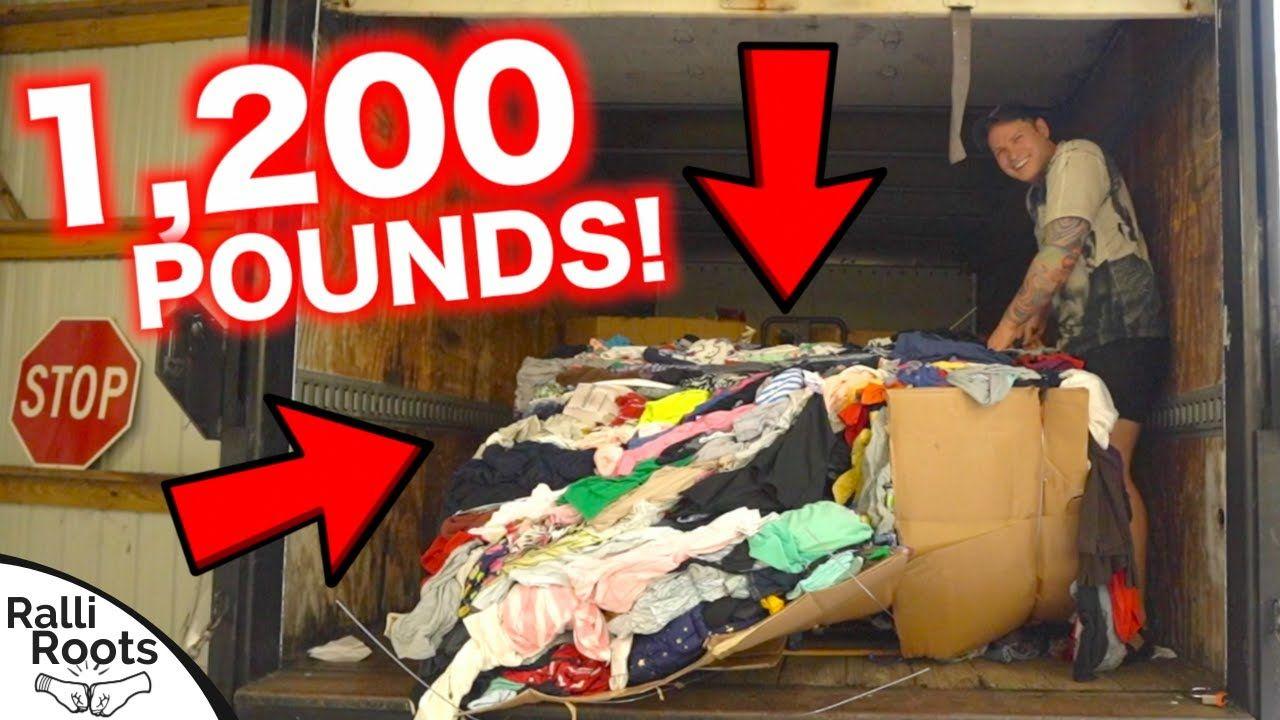 I Bought A 1 200 Pound Pallet Of Clothing 200 Pounds Pound Stuff To Buy