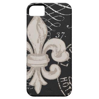 iPhone 5 case-Vintage Fleur de Lis