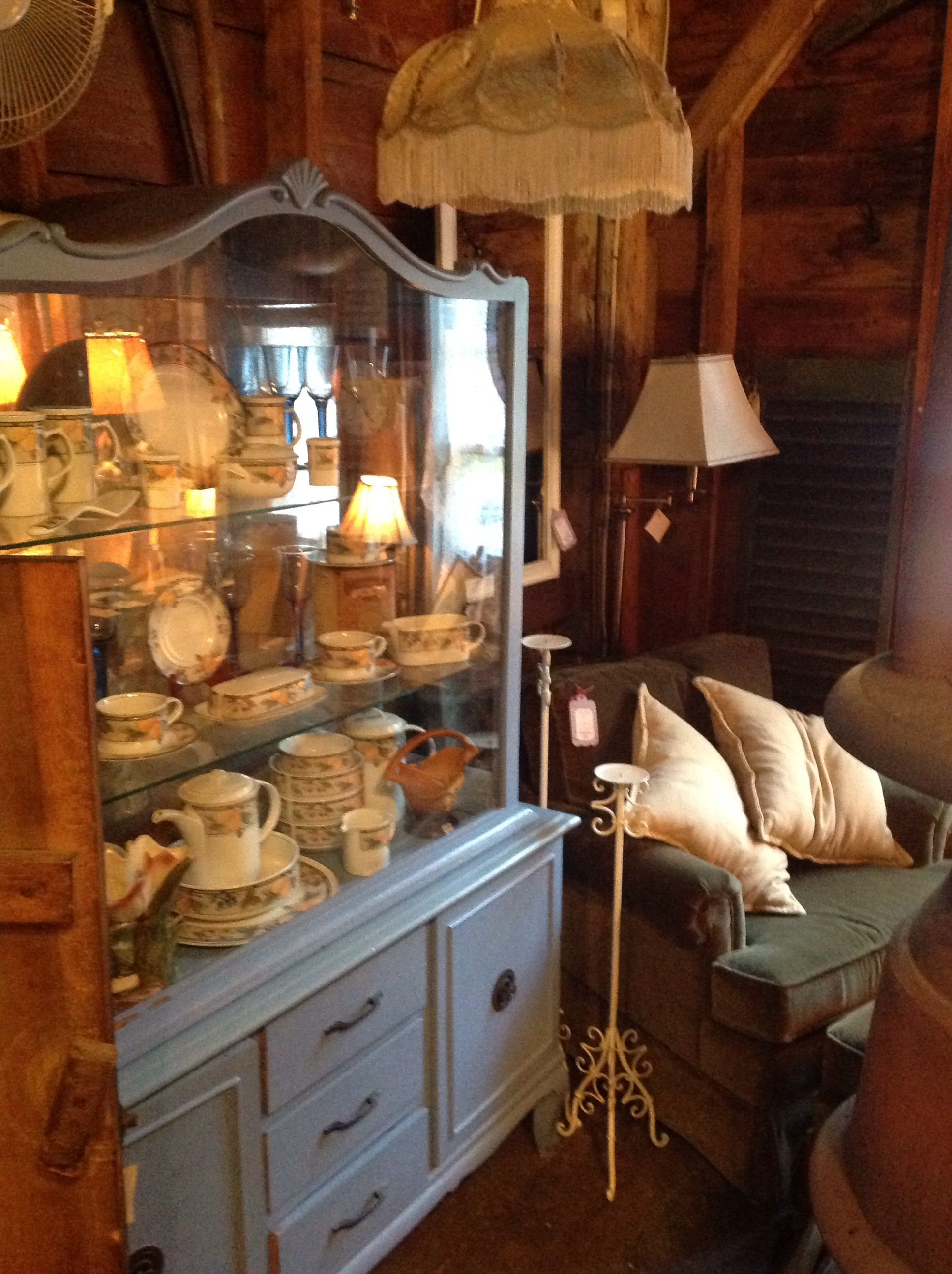 Beautiful French Cabinet Filled With Garden Harvest Mikasa, all for ...