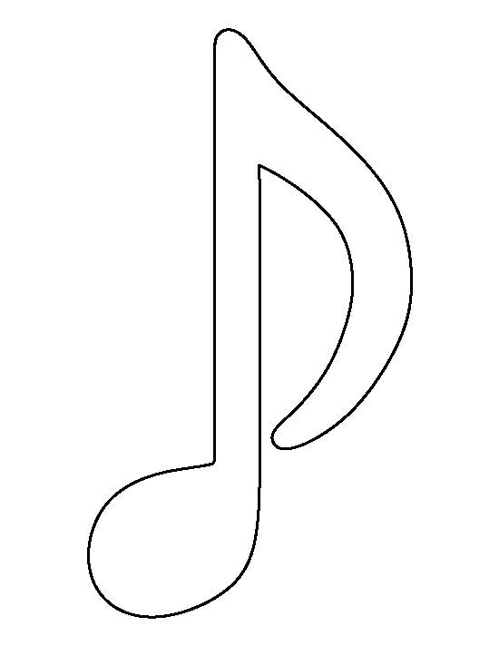 Musical Note Pattern Use The Printable Outline For Crafts Creating