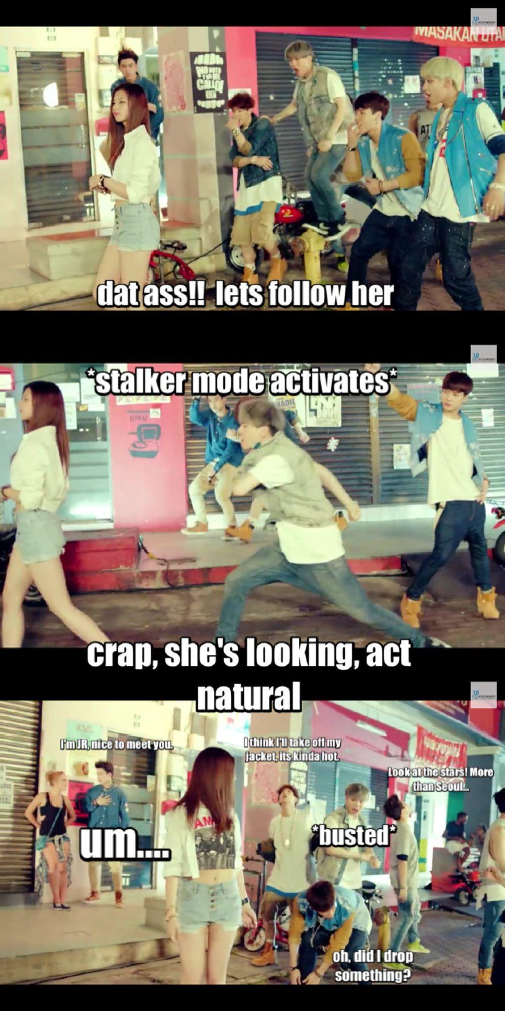 Got7= ultimate stalkers Haha Jr