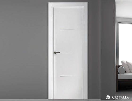 A2461485 puerta lacada rafael blanco castalla puertas for Puertas correderas blancas interior