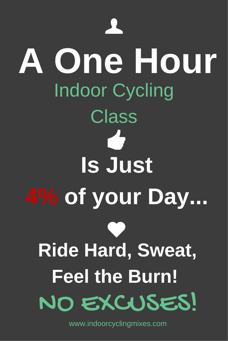 A One Hour Indoor Cycling Class Is Just 4% of Your Day Ride