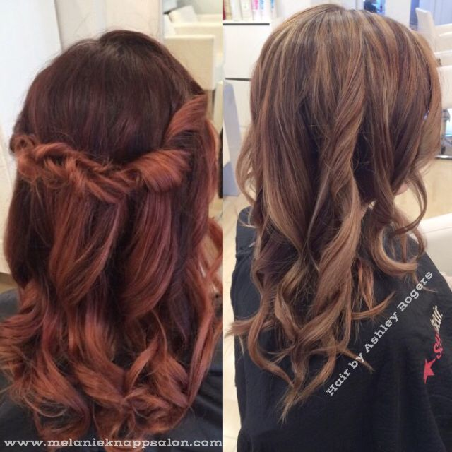 Ash Brown And Blonde Highlights Taken From Vibrant Red Ombre Blonde Highlights Long Hair Styles Red Hair