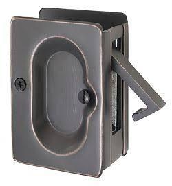 Emtek 2102 3 1 2 Inch Height Solid Brass Privacy Pocket Door Lock Polished Chrome Pocket Door Lock Privacy Emtek Pocket Doors Pocket Door Hardware