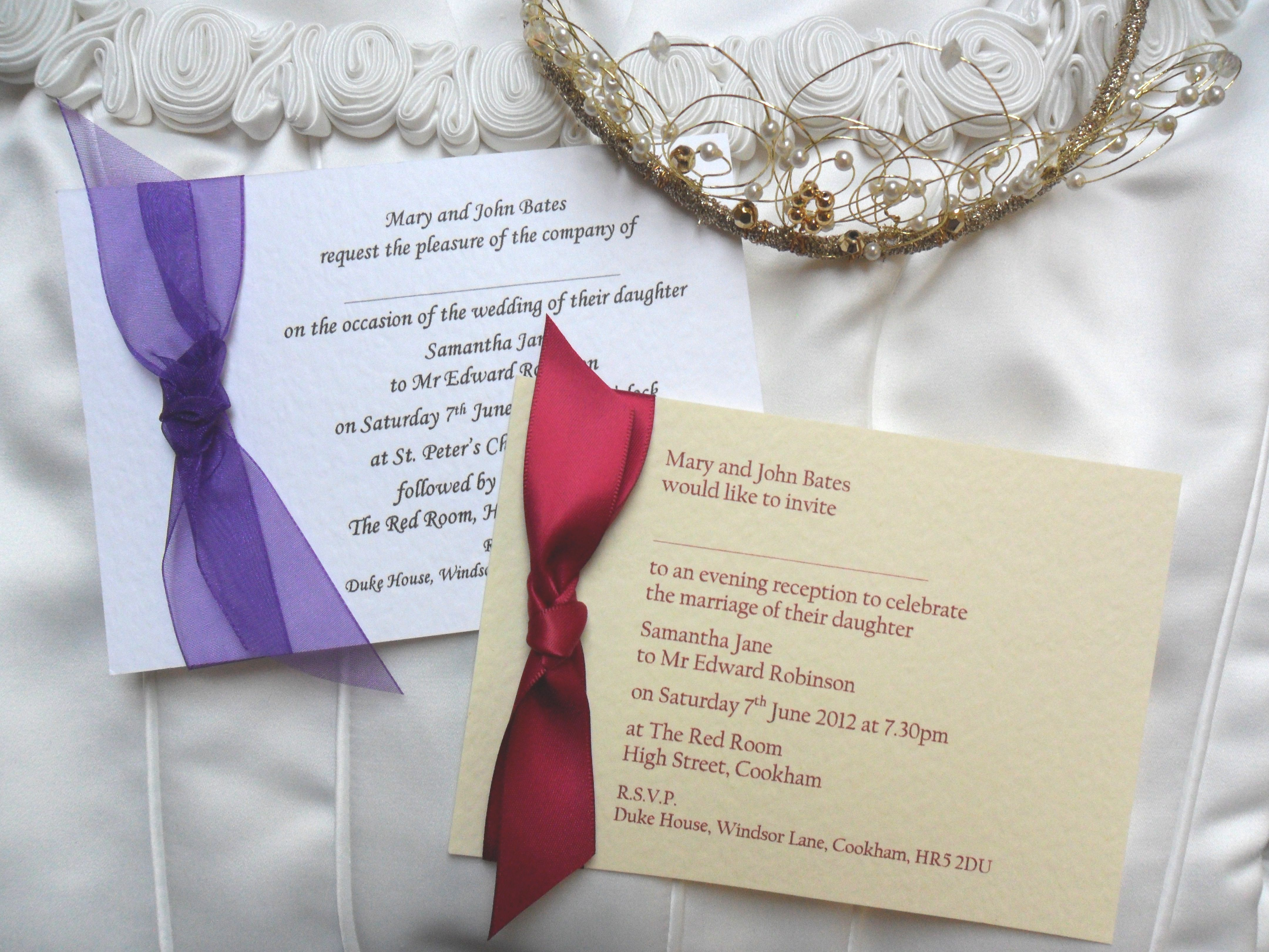 Single Sided Wedding Invitations start from just 60p each. Visit ...