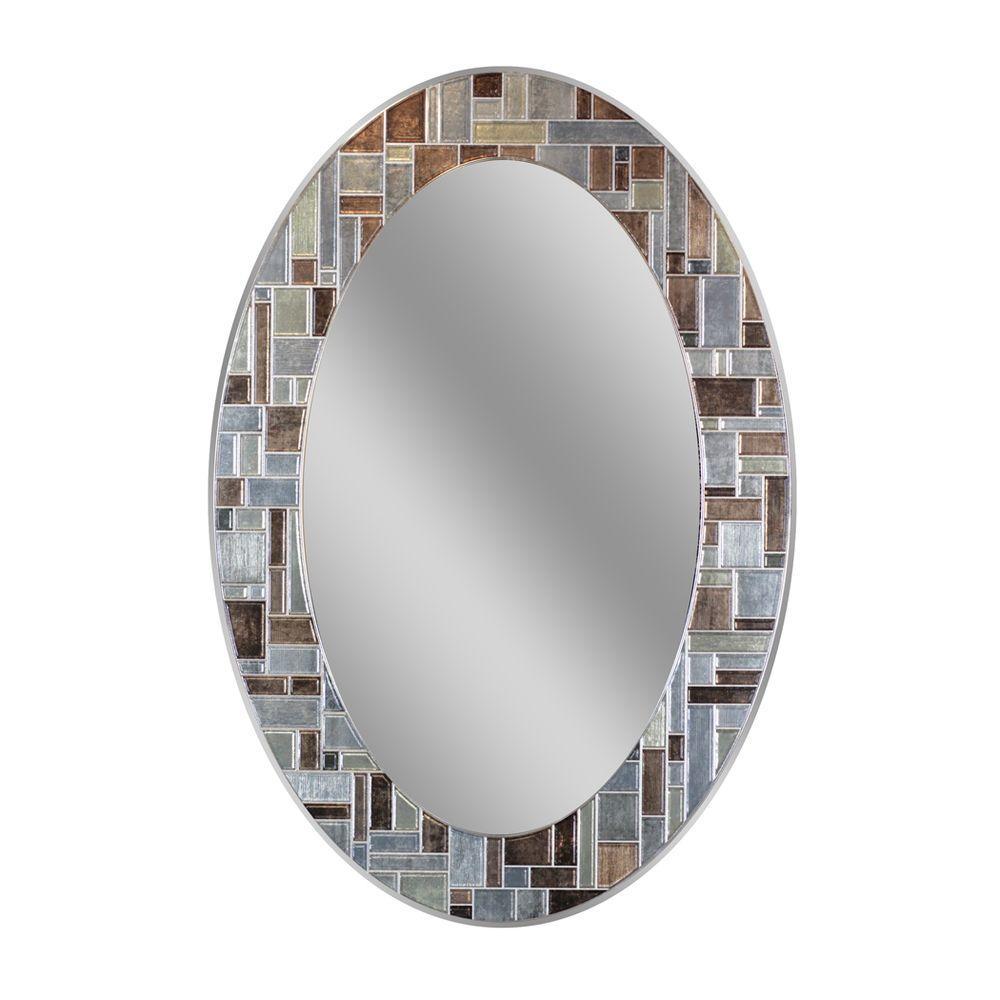 Deco Mirror 31 In L X 21 In W Windsor Oval Tile Wall Mirror 1201